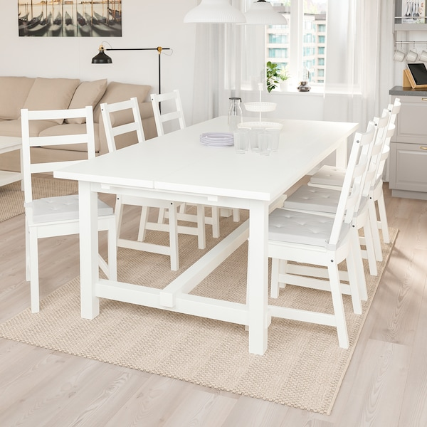 NORDVIKEN extendable table white 210 cm 289 cm 105 cm 75 cm