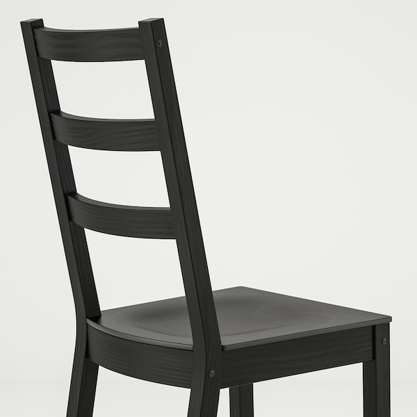 NORDVIKEN / NORDVIKEN table and 2 chairs black/black 74 cm 104 cm 74 cm