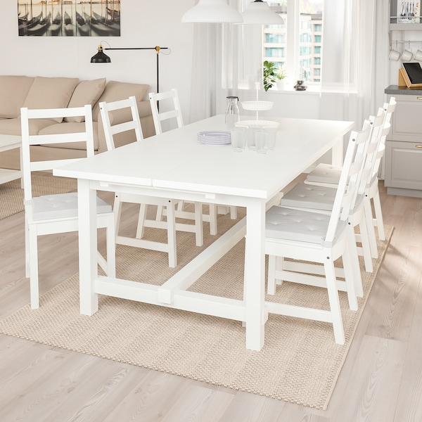 NORDVIKEN / NORDVIKEN table and 6 chairs white/white 210 cm 289 cm 105 cm