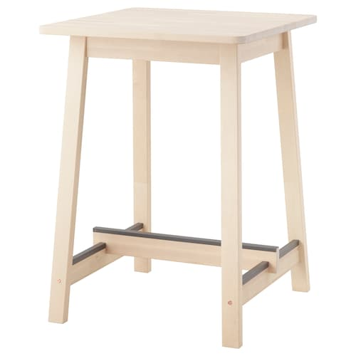 NORRÅKER bar table birch 74 cm 74 cm 102 cm