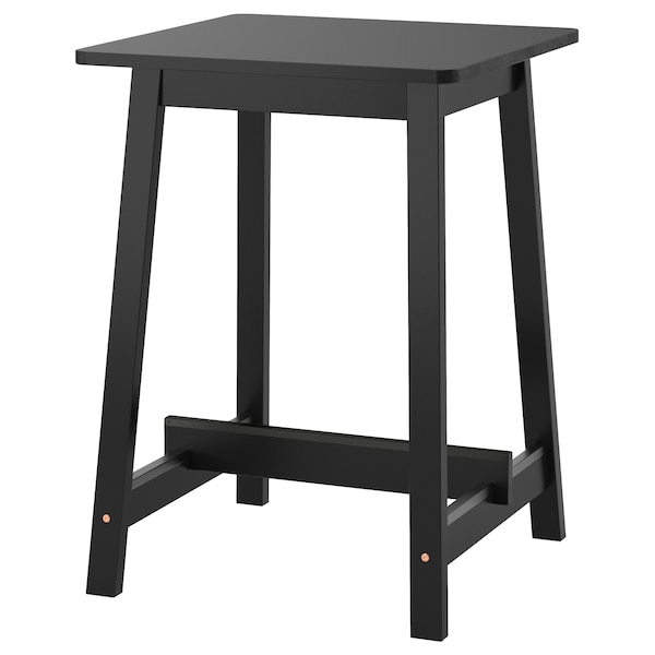 NORRÅKER bar table black 74 cm 74 cm 102 cm