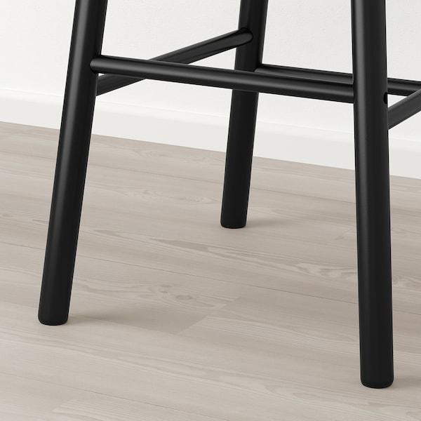 NORRÅKER / NORRARYD bar table and 2 bar stools black/black 74 cm 74 cm 104 cm