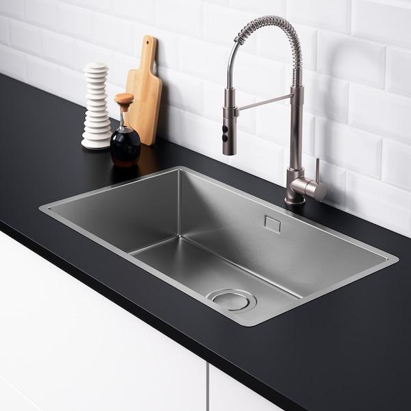 NORRSJÖN inset sink, 1 bowl stainless steel 18 cm 70 cm 40 cm 43 cm 72 cm 44 cm 73 cm 44.0 cm 36.0 l