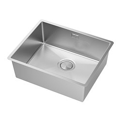 NORRSJÖN inset sink, 1 bowl, stainless steel