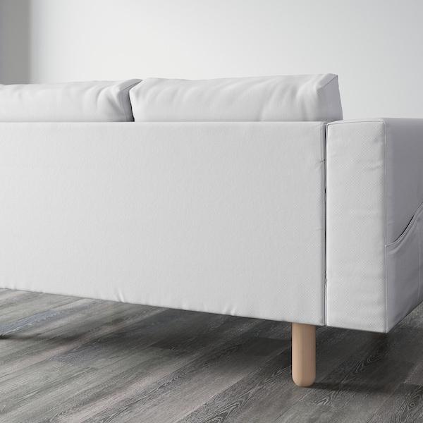 NORSBORG 3-seat sofa, Finnsta white/birch