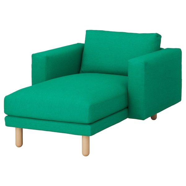 NORSBORG chaise longue Edum bright green/birch 110 cm 157 cm 85 cm 129 cm 43 cm