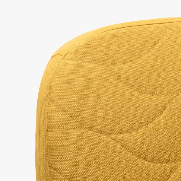 NYHAMN Sofa-bed with triple cushion, with pocket spring mattress/Skiftebo yellow