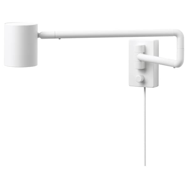 NYMÅNE wall lamp with swing arm white 8.5 W 7 cm 2.5 m