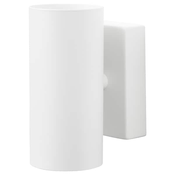 NYMÅNE wall up/downlighter, wired-in white 8.5 W 15 cm 7 cm