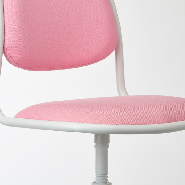 ÖRFJÄLL Children's desk chair, white/Vissle pink