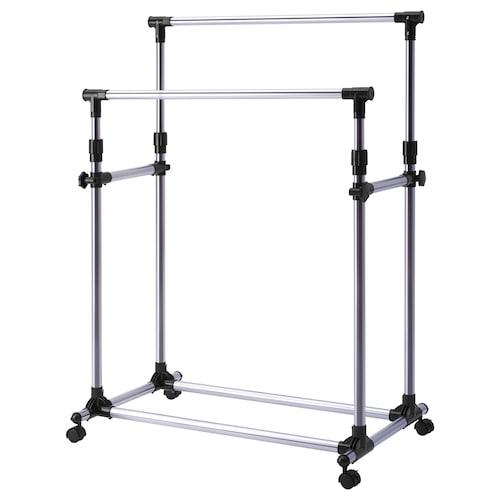 OLEBY clothes rack silver-colour 87 cm 57 cm 100 cm 165 cm
