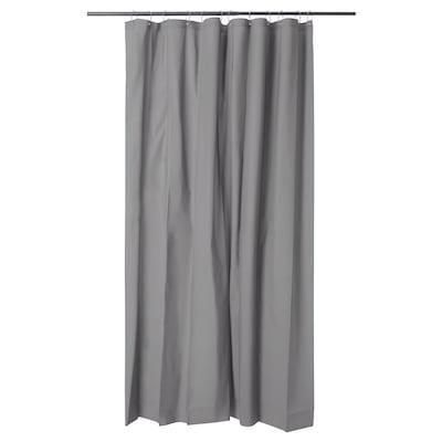 OLEBY Shower curtain, grey, 180x200 cm