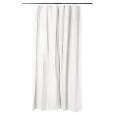OLEBY Shower curtain, white, 180x200 cm