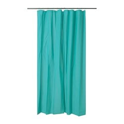 OLEBY shower curtain, turquoise