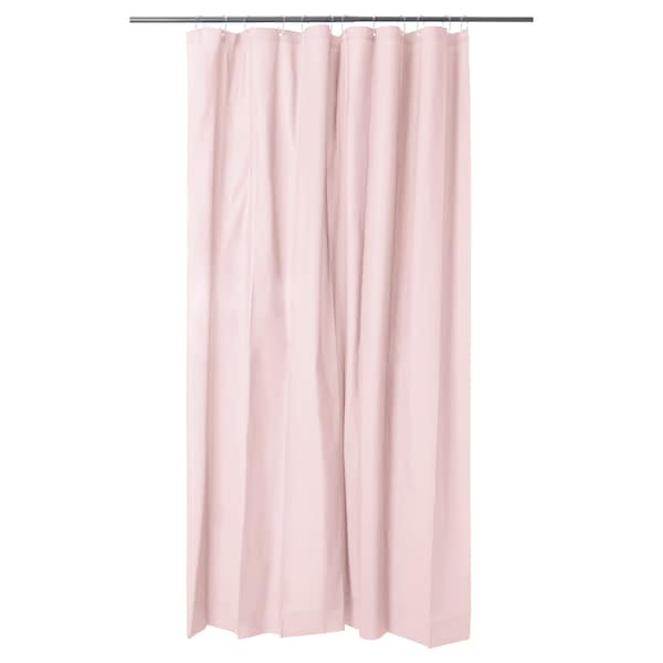 OLEBY shower curtain pale pink 200 cm 180 cm 3.60 m²