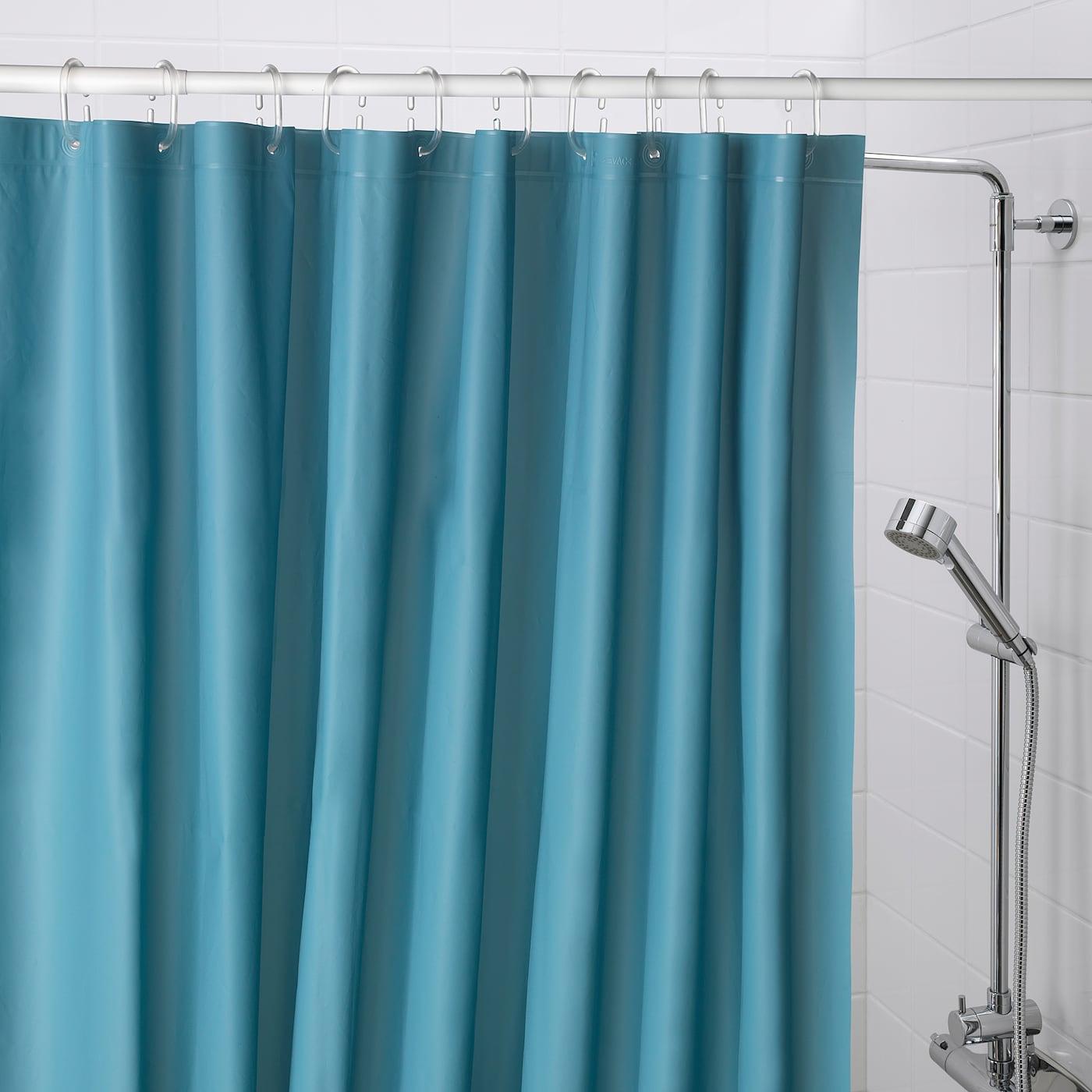 Oleby Shower Curtain Dark Blue Ikea