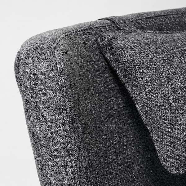 OMTÄNKSAM Armchair, Gunnared dark grey
