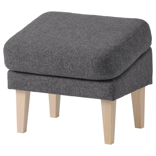 OMTÄNKSAM footstool, slanted Gunnared dark grey 52 cm 40 cm 44 cm