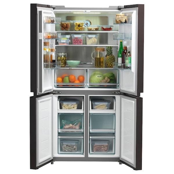 OÖVERTRÄFFAD BCD-432WGPZM(YJ) Fridge/freezer with 4 doors, copper effect/No Frost