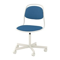 ÖRFJÄLL swivel chair, white, Vissle blue