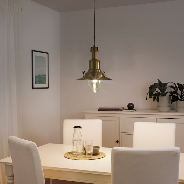 OTTAVA pendant lamp brass-colour 60 W 30 cm 1.2 m