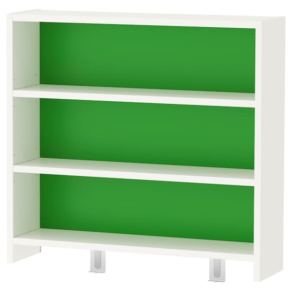 PÅHL desk top shelf white/green 64 cm 17 cm 60 cm