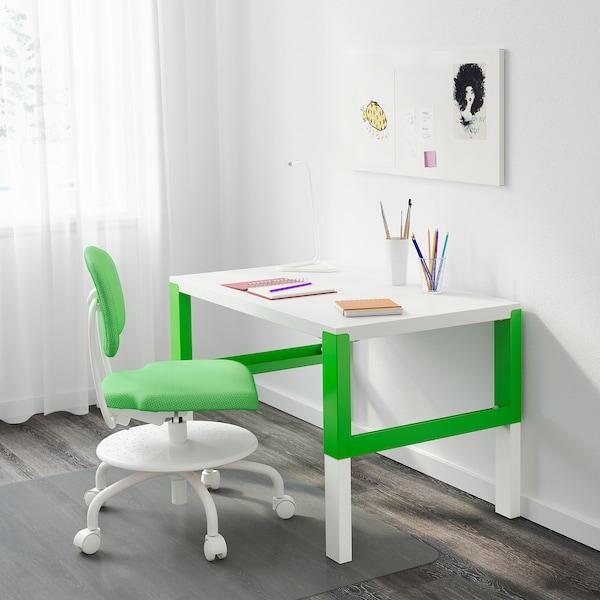 PÅHL desk white/green 96 cm 58 cm 59 cm 72 cm 50 kg