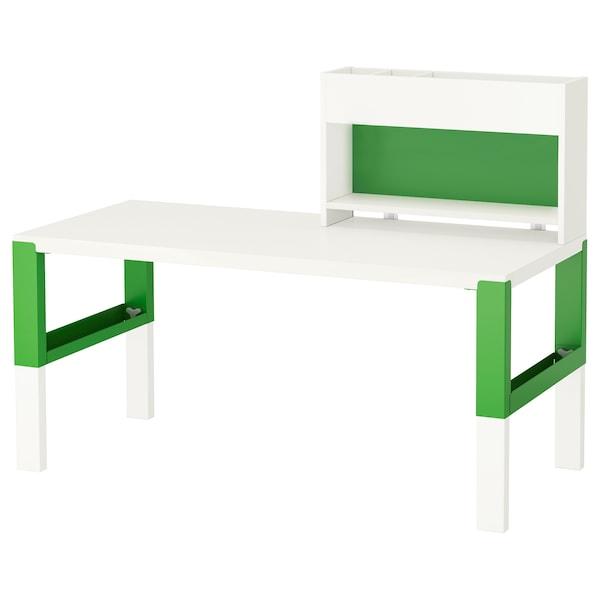 PÅHL desk with add-on unit white/green 128 cm 58 cm 98 cm 111 cm 50 kg