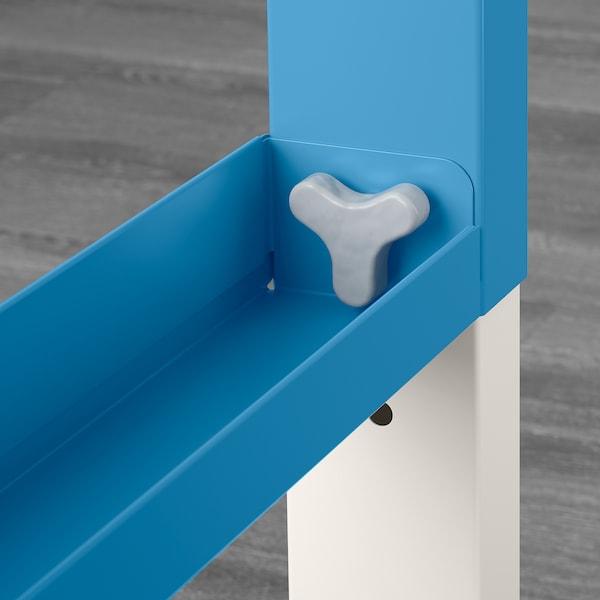 PÅHL desk with shelf unit white/blue 96 cm 58 cm 119 cm 132 cm 50 kg