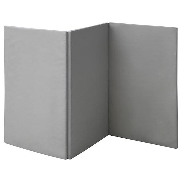 PASSBIT Folding gym mat, yellow/green/grey, 120x225 cm