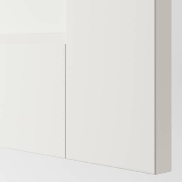 PAX Corner wardrobe, white/Grimo white, 111/111x201 cm