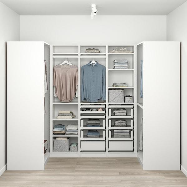 PAX Corner wardrobe, white, 113/271/113x201 cm