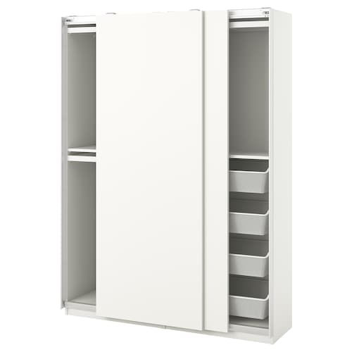 PAX / HASVIK wardrobe combination white 150 cm 44 cm 201.2 cm