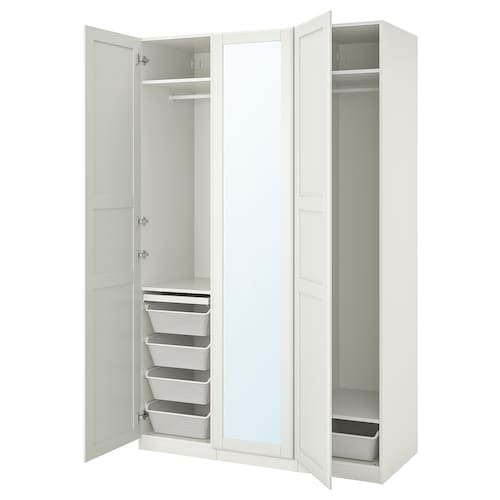 PAX / TYSSEDAL wardrobe combination white/mirror glass 150.0 cm 60.0 cm 236.4 cm