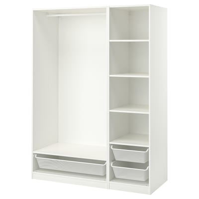 PAX Wardrobe combination, white, 150x58x201 cm
