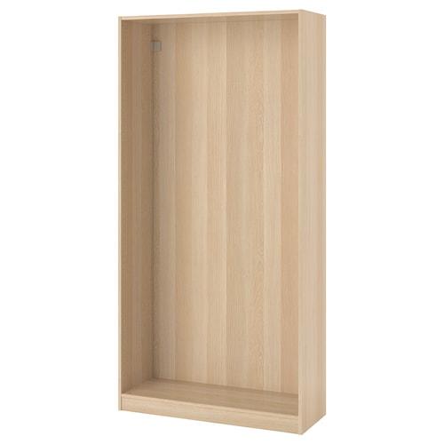 PAX wardrobe frame white stained oak effect 99.8 cm 100 cm 35.5 cm 201.2 cm 35 cm 201 cm