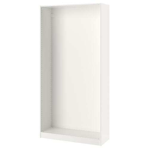 PAX wardrobe frame white 99.8 cm 100 cm 35.5 cm 201.2 cm 35 cm 201 cm