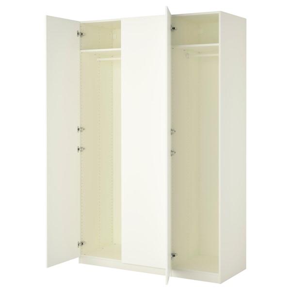 PAX Wardrobe, white/Forsand white, 150x60x236 cm