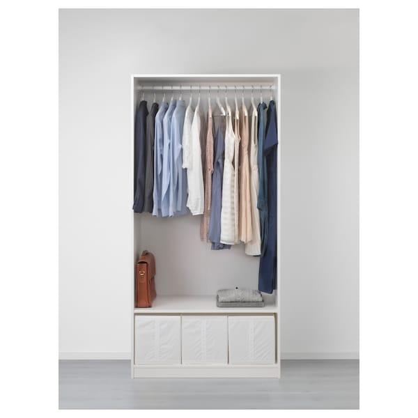 PAX wardrobe white/Flisberget rust 100.0 cm 60.0 cm 201.2 cm