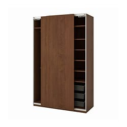 PAX wardrobe, Hasvik, brown stained ash effect