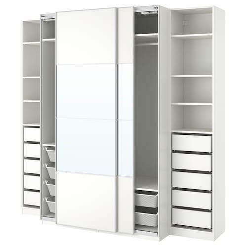 PAX wardrobe white/Mehamn Auli 250.0 cm 66.0 cm 236.4 cm