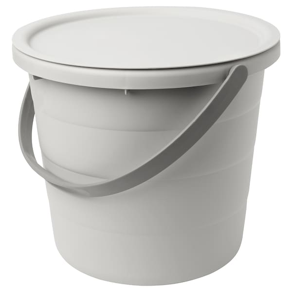 PEPPRIG Bucket with lid, 12 l