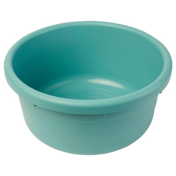 PEPPRIG Wash-tub, turquoise, 30 cm
