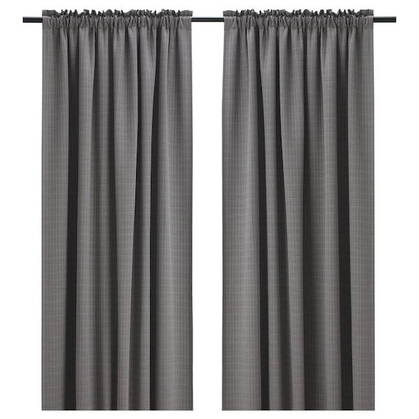 IKEA PIAMARIA Room darkening curtains, 1 pair