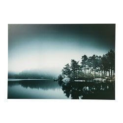 PJÄTTERYD picture, grey lake