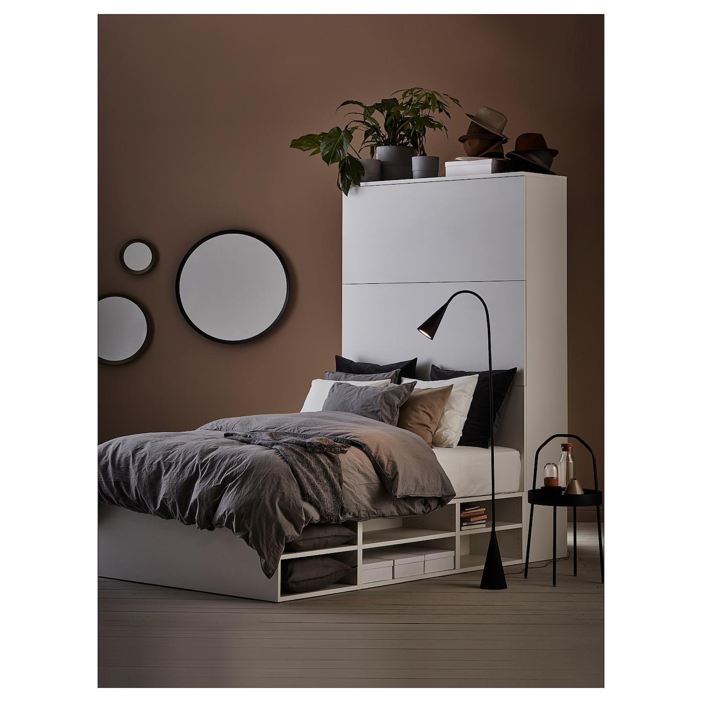 Platsa Bed Frame With Storage White Ikea