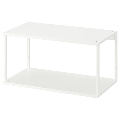PLATSA Open shelving unit, white, 80x40x40 cm