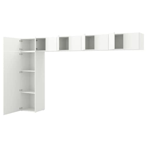 PLATSA wardrobe w 10 doors Fonnes white 380.0 cm 42.0 cm 221.0 cm