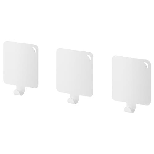 PLUTT hook, self-adhesive white 4 cm 1 cm 5 cm 0.50 kg 3 pack