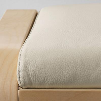 POÄNG Footstool cushion, Glose eggshell